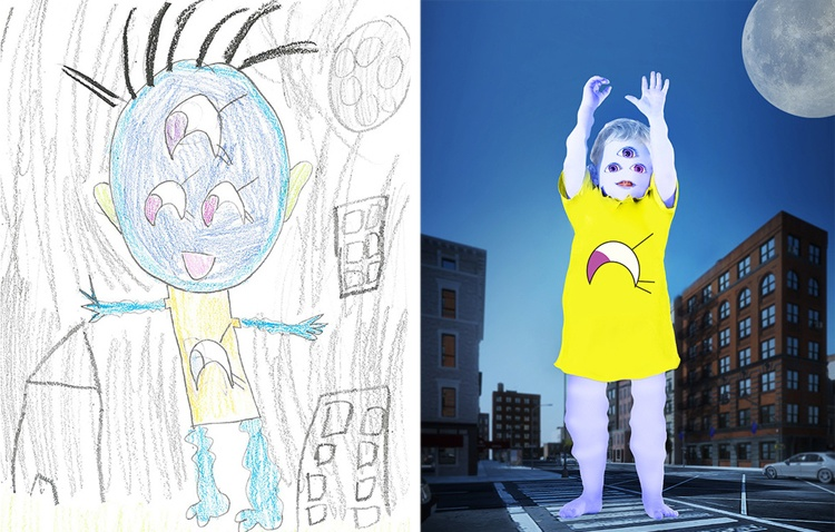 children's-monster-doodles-recreated-by- professional- artists-15