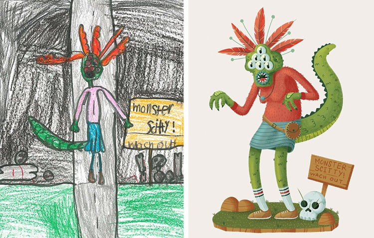 children's-monster-doodles-recreated-by- professional- artists-6