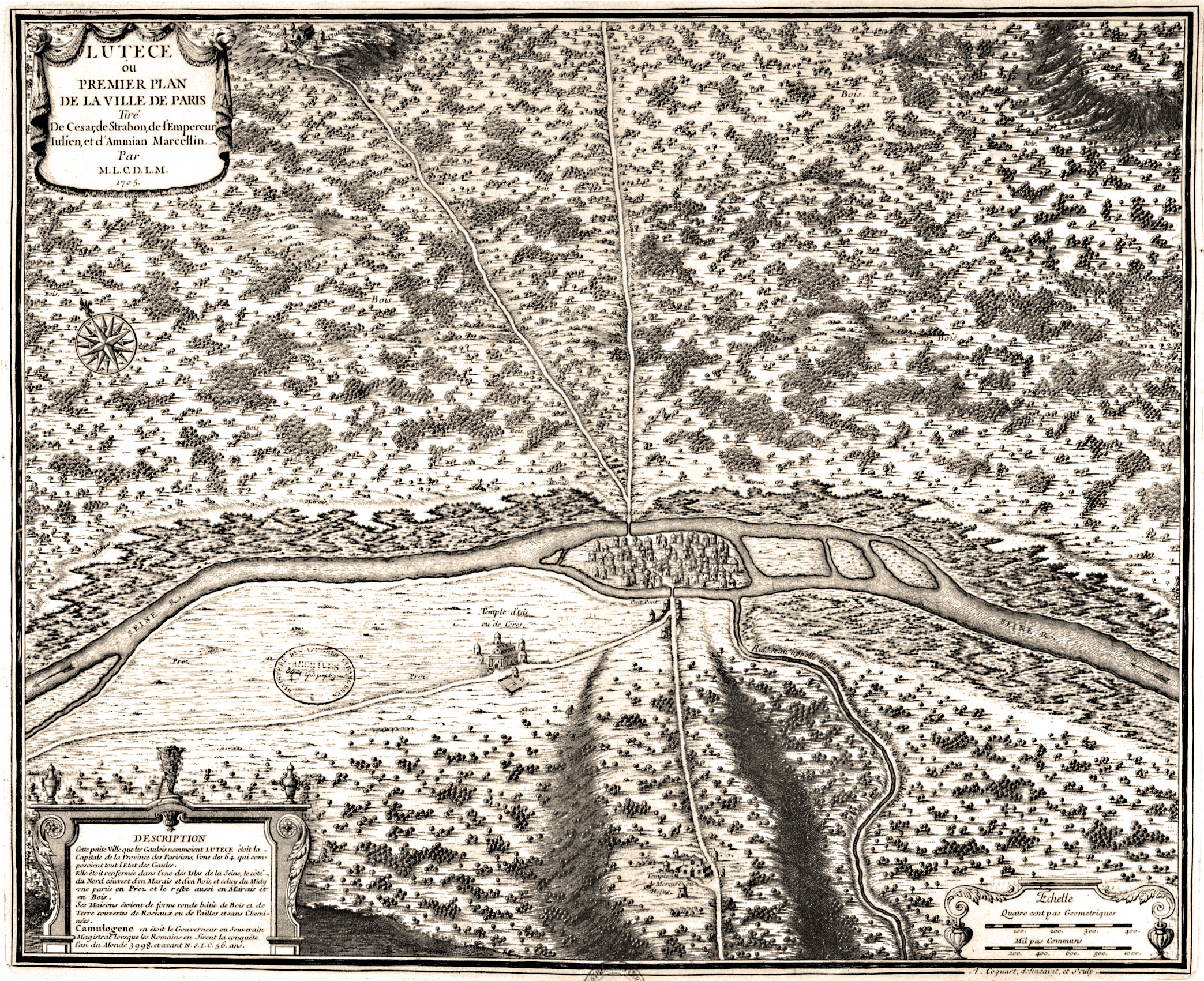 Old Maps Of Paris 360 1615 Earthly Mission