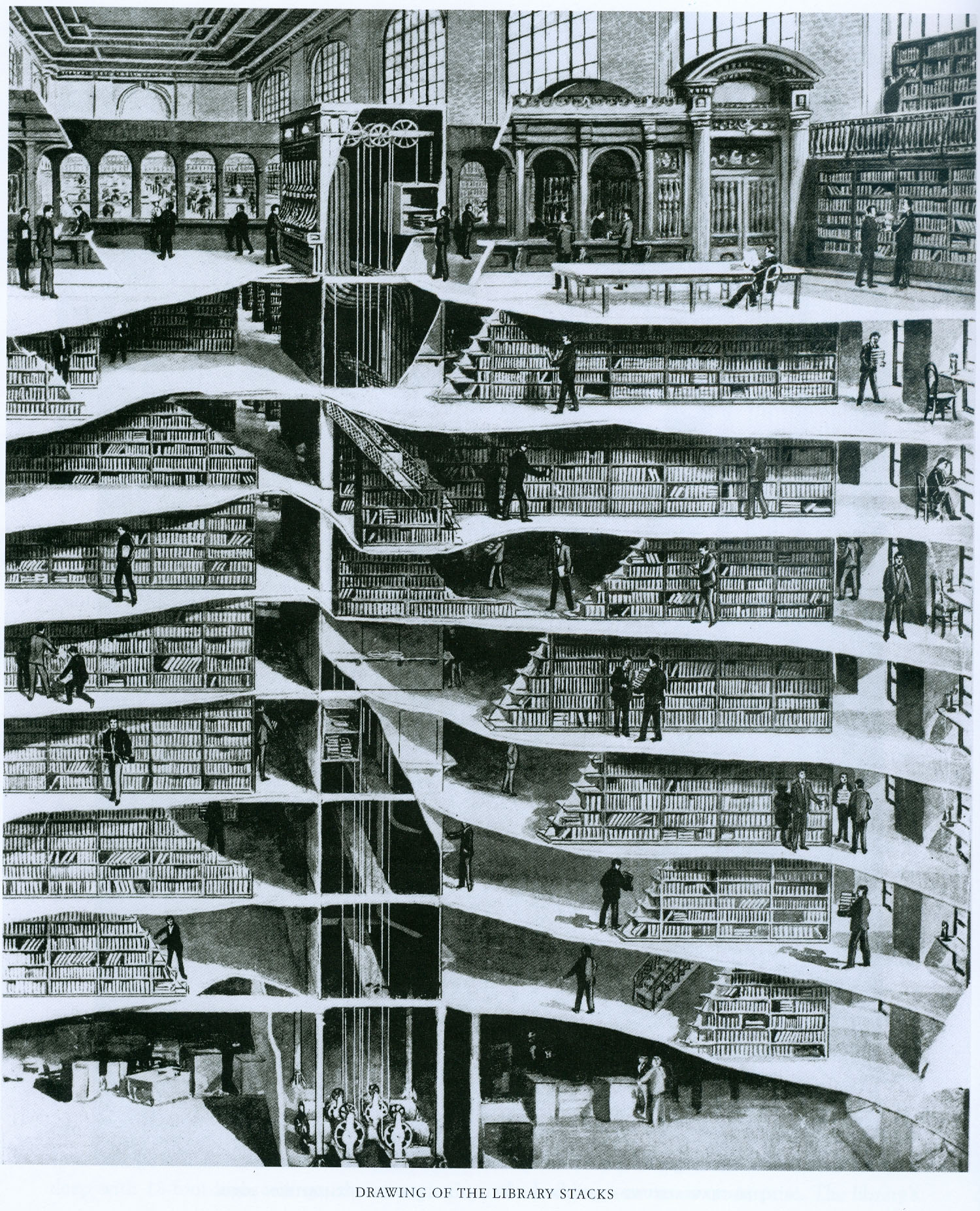 cross-section-of-new-york-public-library-7-underground-levels-1911