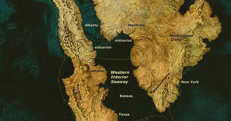 North America 93 Million Years Ago
