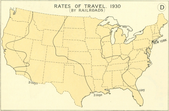 How Travel Times In The USA Shrinked Between And - 1830 us map