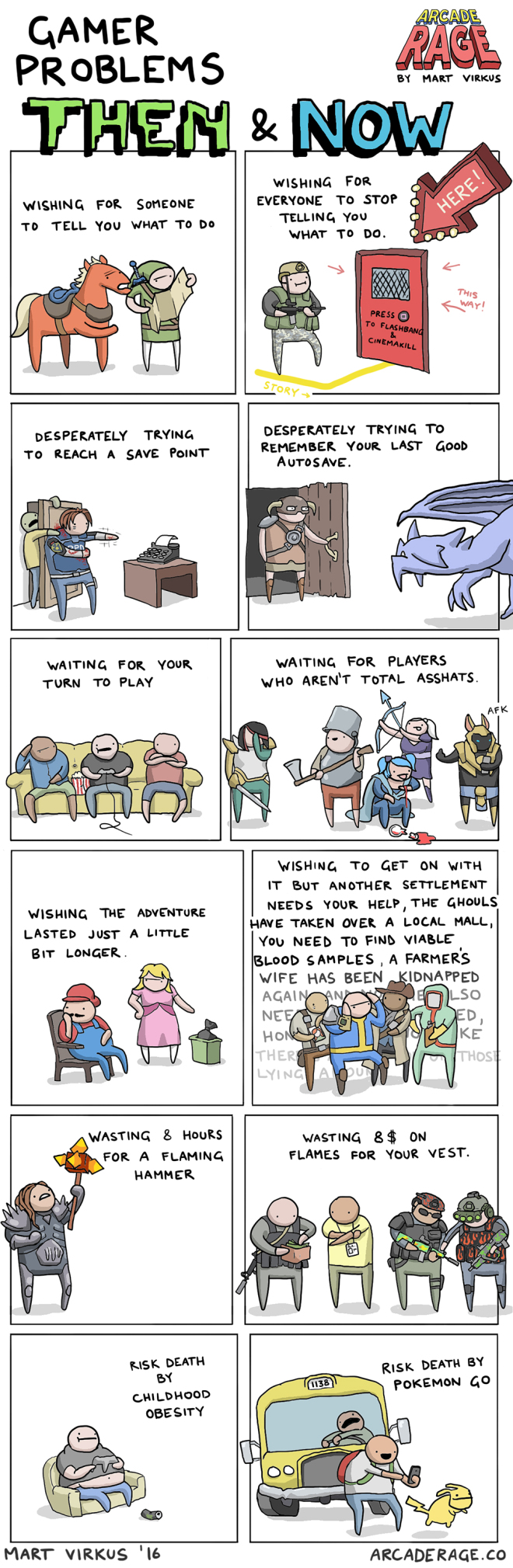A webcomic on gaming by Arcaderage.co