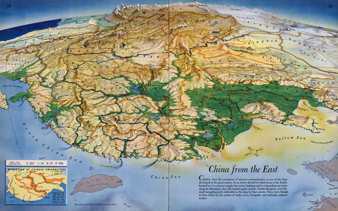 1941-topography-map-of-china-from-east