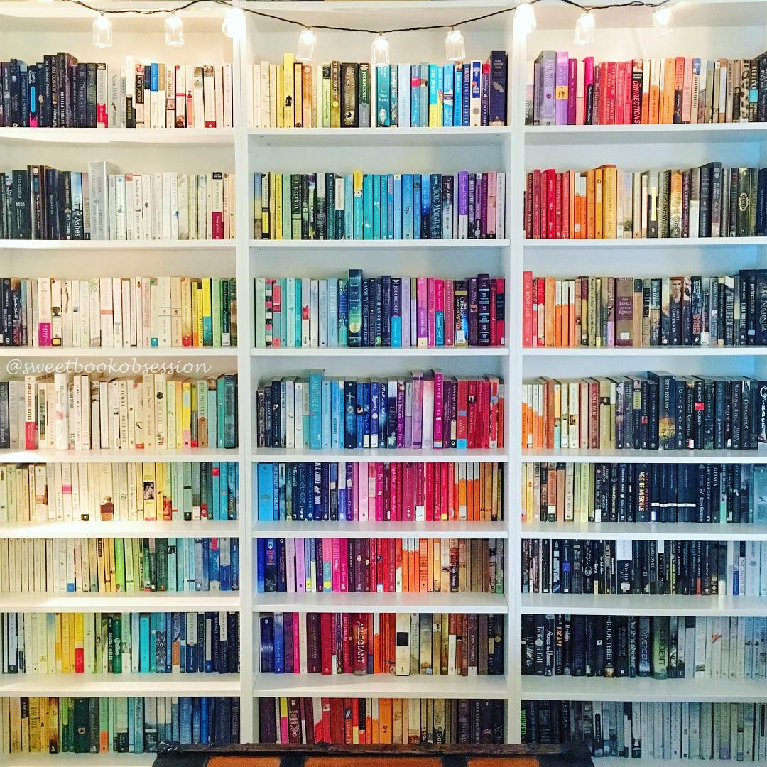 Colorful Book Room: A Cool Way To Organize Your Books