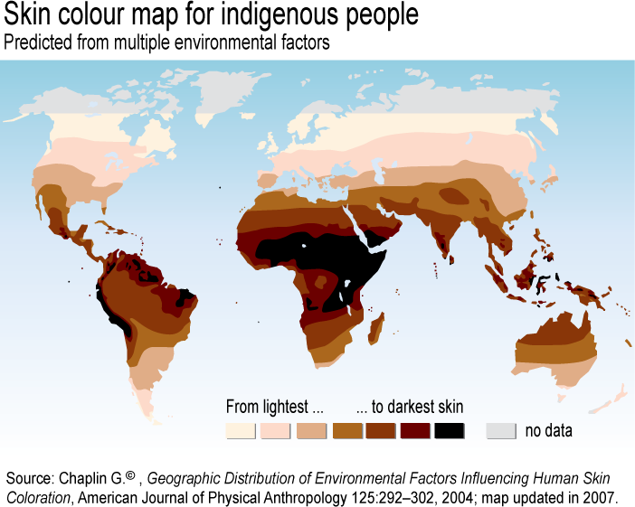 Skin Color Map World Skin Color Map Reveals Truth About Races | Earthly Mission Skin Color Map