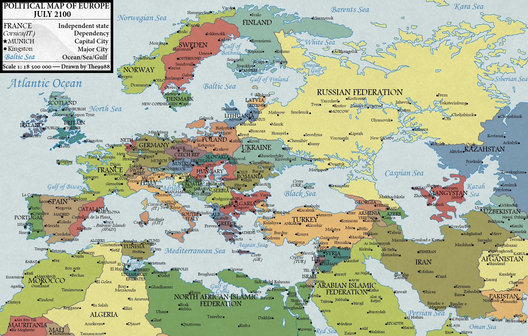 Map of the World in 2100