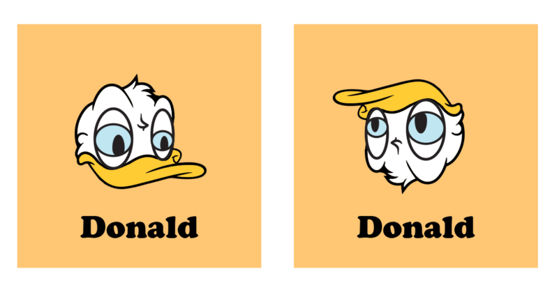 Turn Donald Duck Upside Down And You Get Another