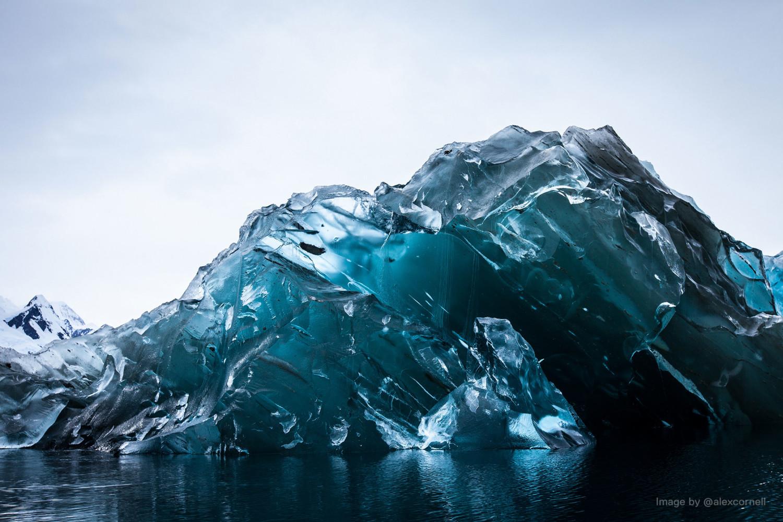 iceberg flipped underside blue