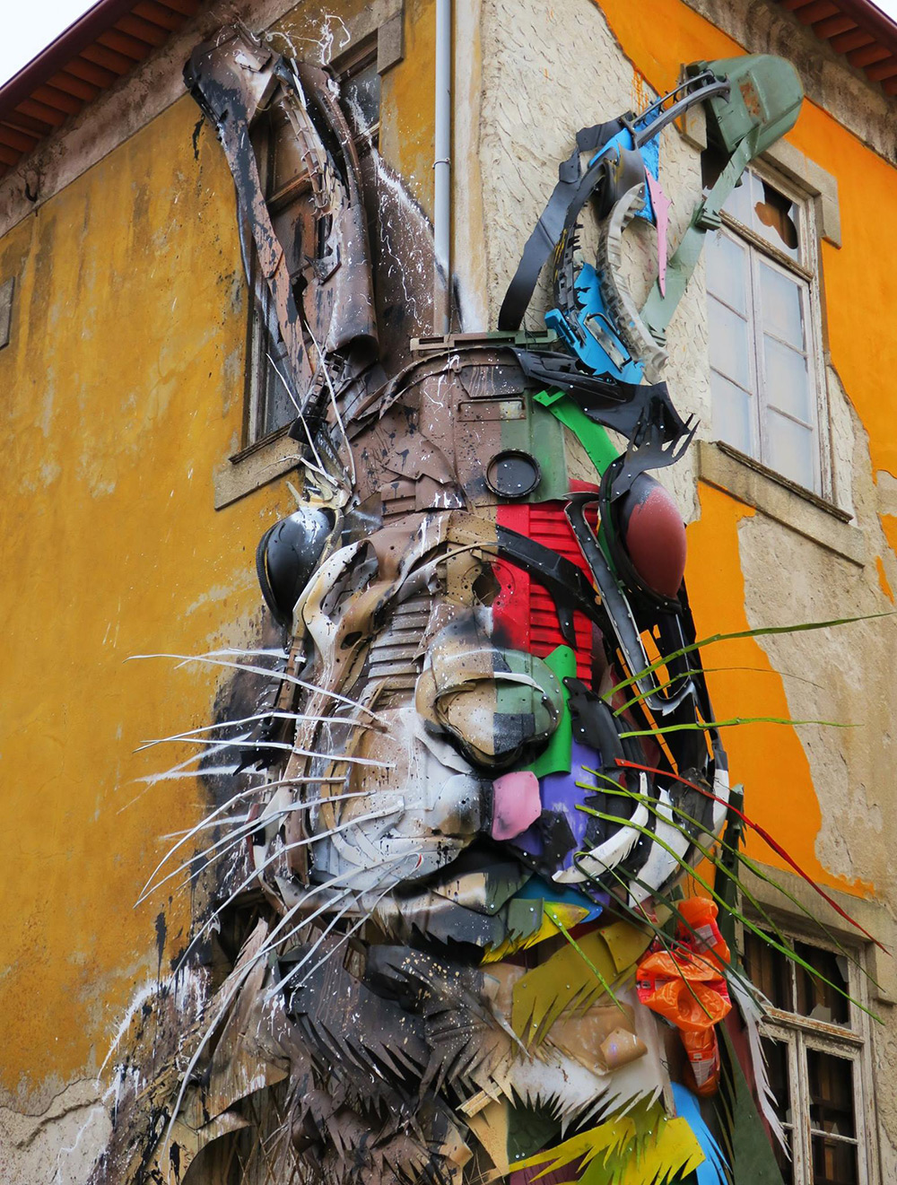Bordalo II street art rabbit 1