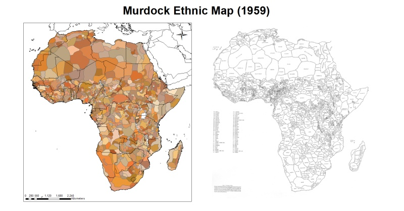 Ethnic Map Of Africa Map of Africa with Ethnic Boundaries | Earthly Mission Ethnic Map Of Africa