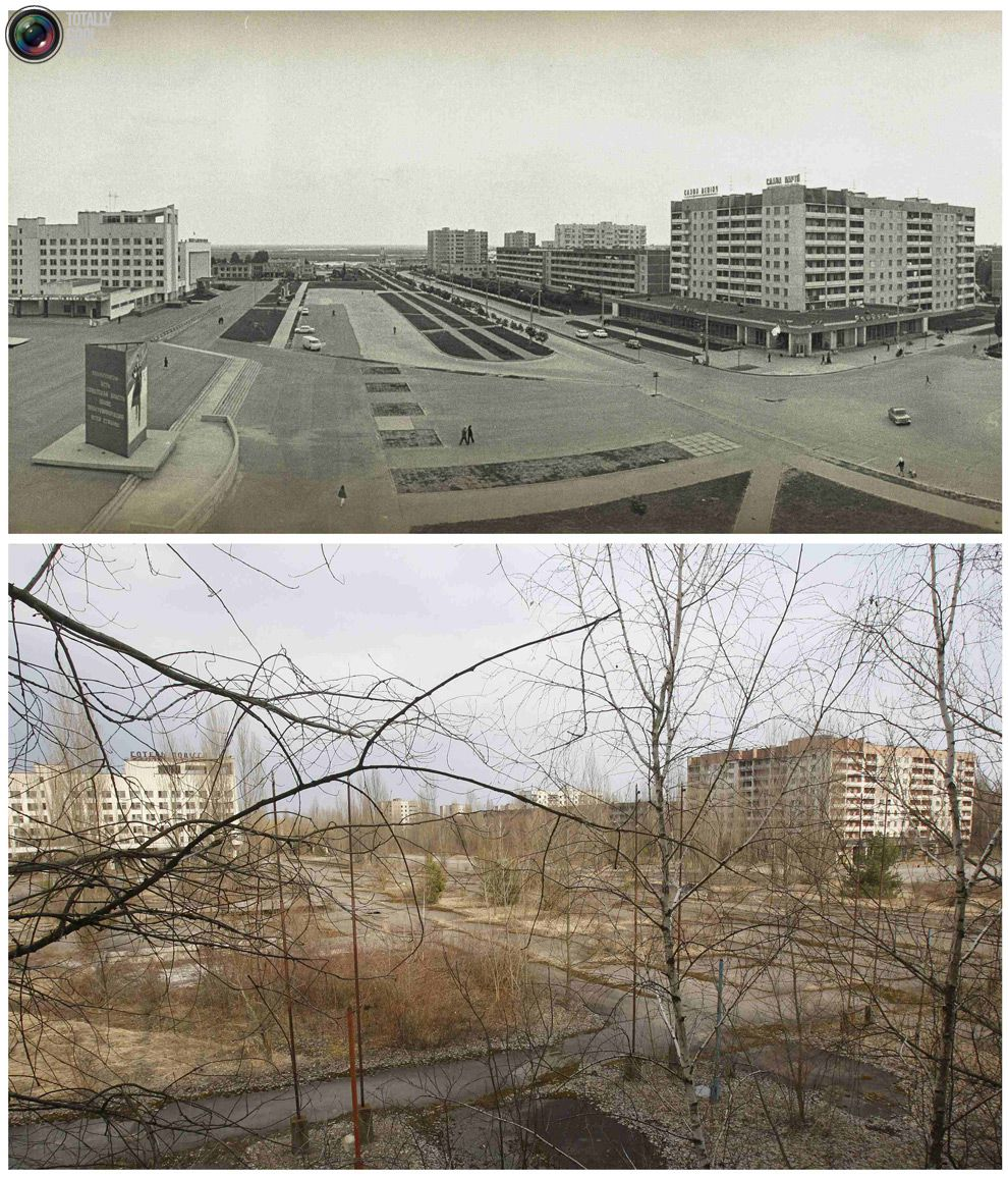 After: Chernobyl Before And After Pictures