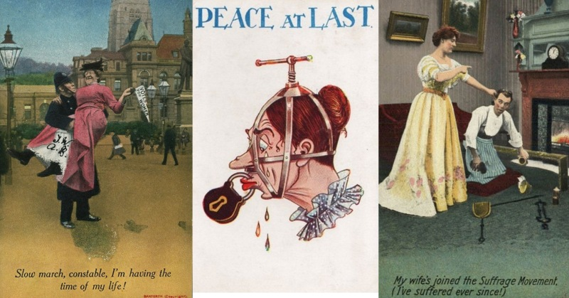anti-suffragette propaganda postcards