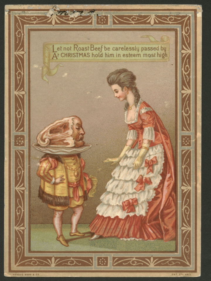 Weird Victorian Christmas And New Year Greeting Cards
