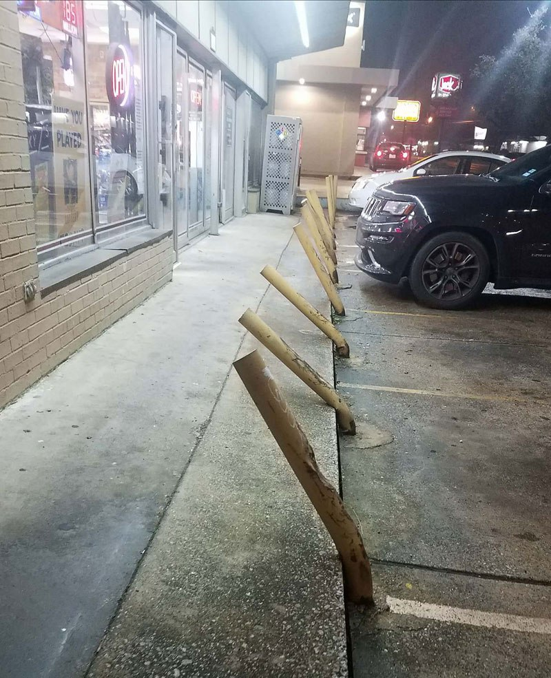 Parking in Front of a Liquor Store and a Laser Eye Surgery