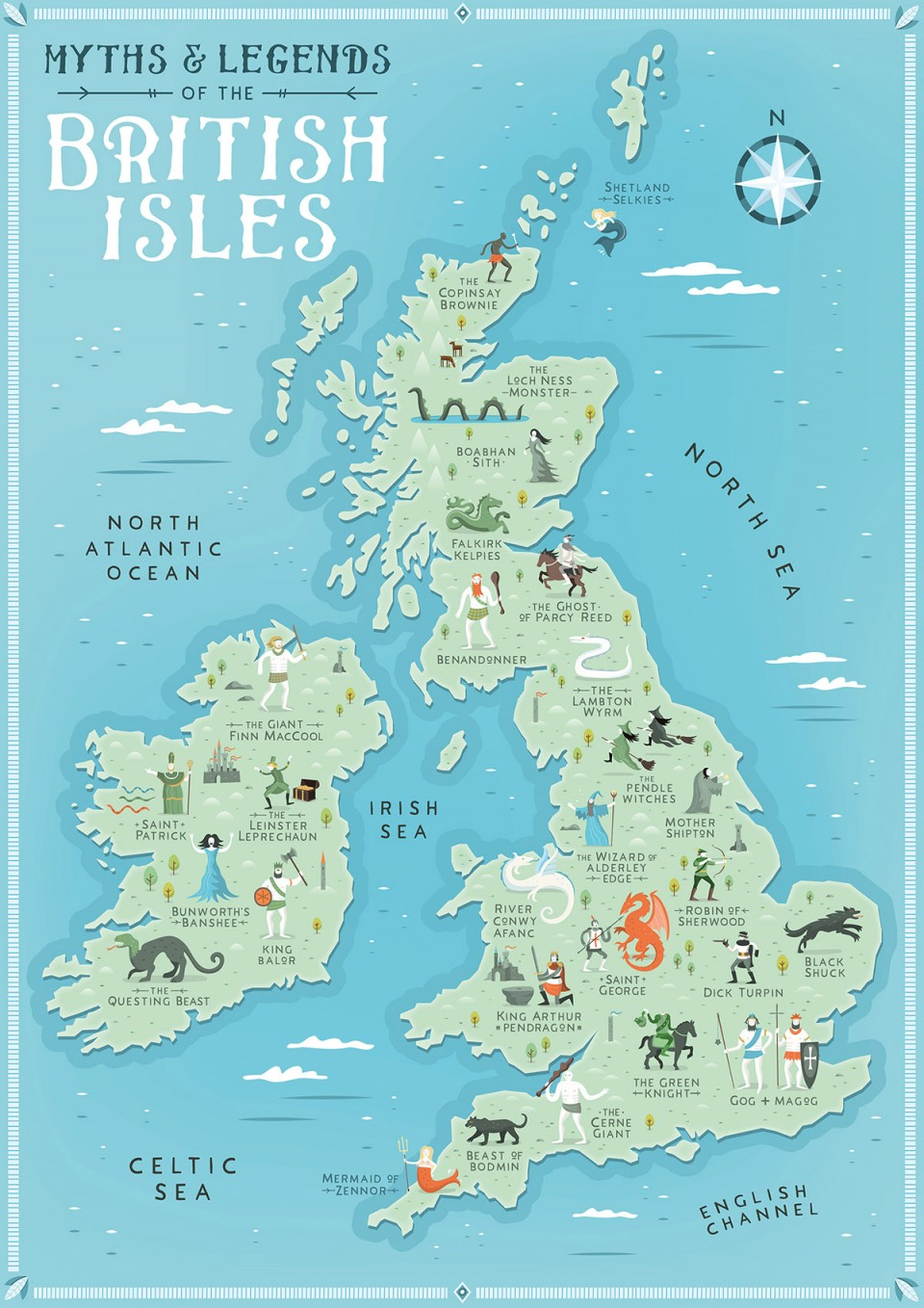 Map Of England Showing Yorkshire.Myths Legends Of The British Isles Earthly Mission