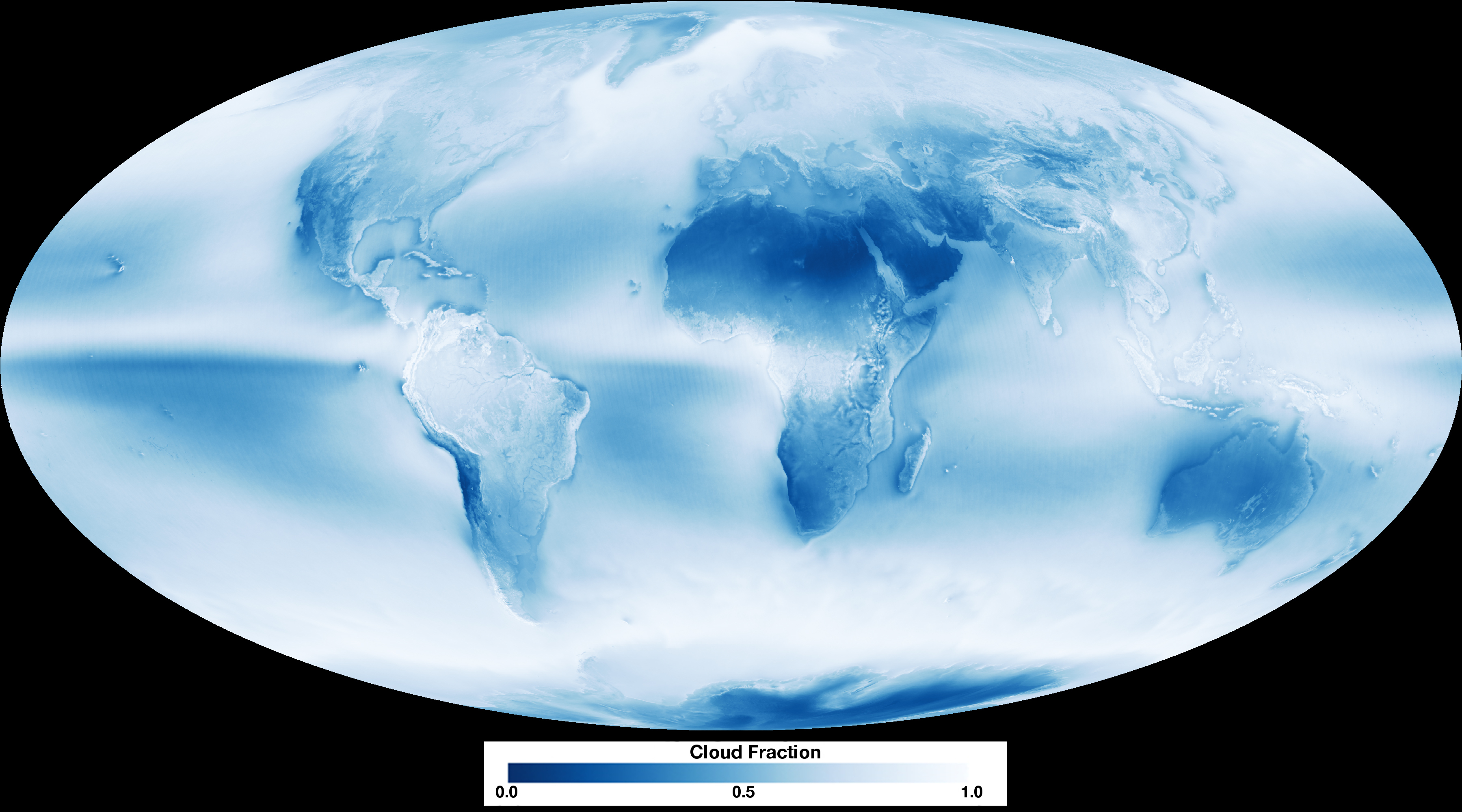 average cloud coverage on earth