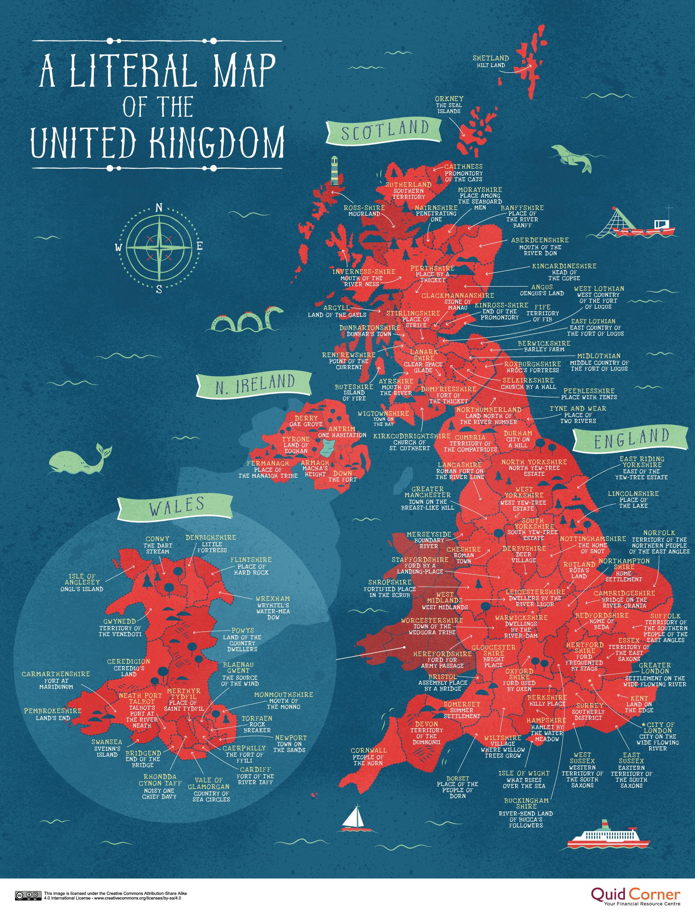 literal map of the united kingdom