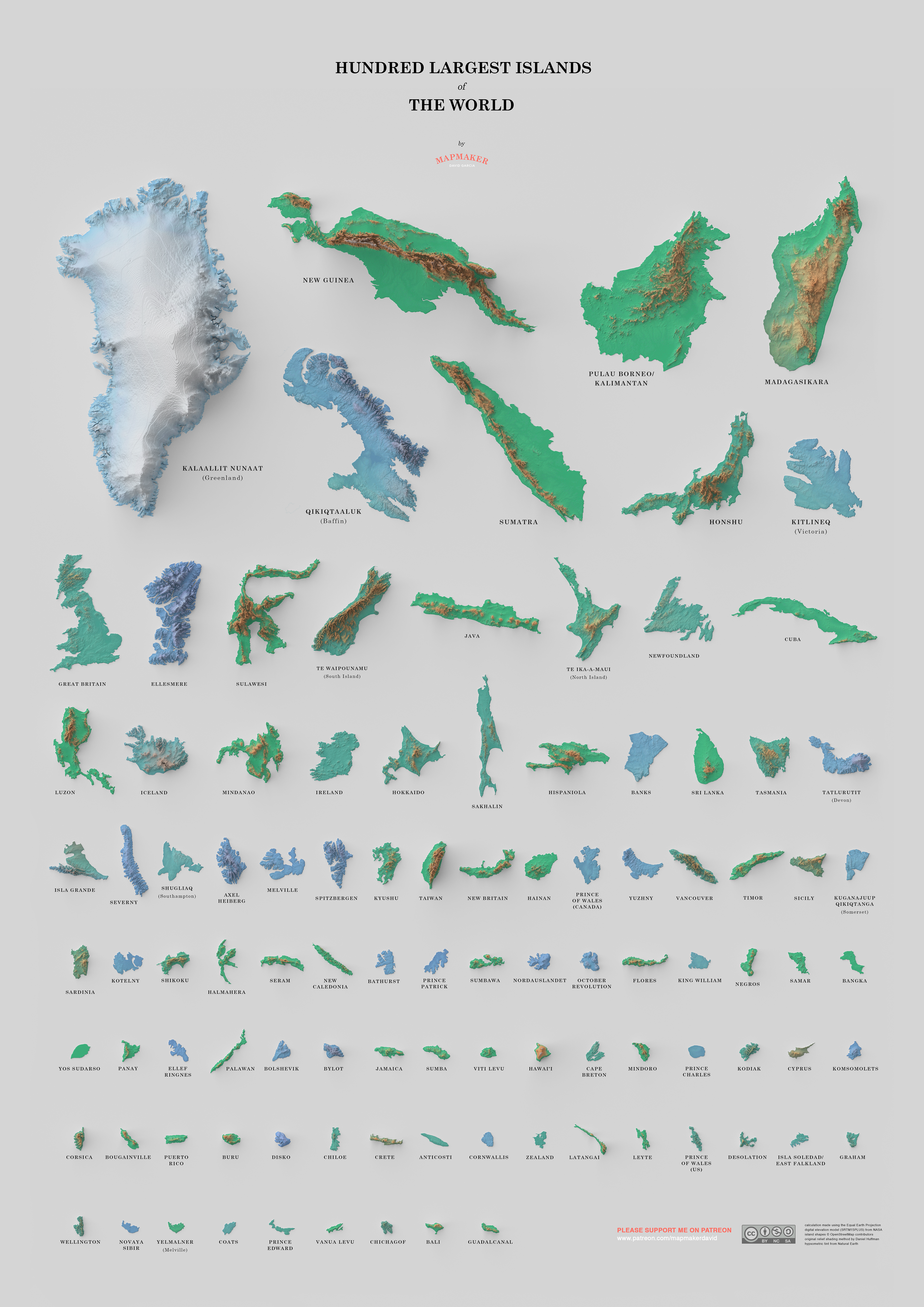 Hundred Largest Islands of the World