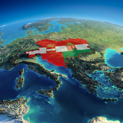 Amazing 3D Relief Map of Austria-Hungary
