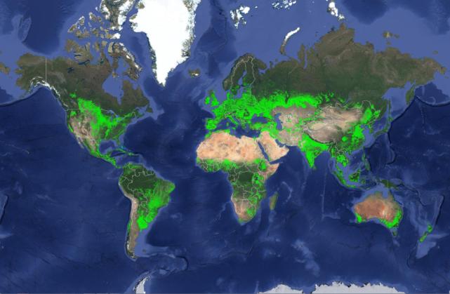 farmland map of the world