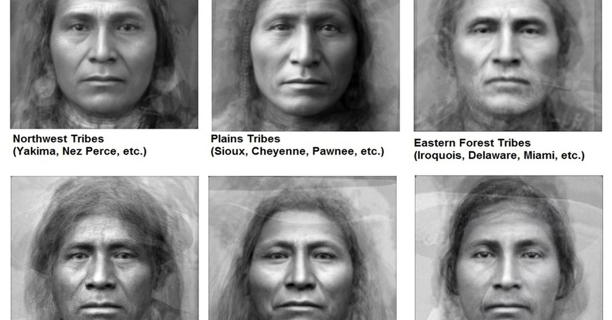 Cherokee Facial Features >> Average Faces of Native American Tribes - Earthly Mission