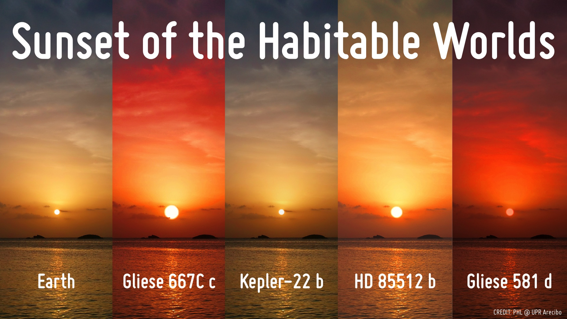 sunset on habitable planets