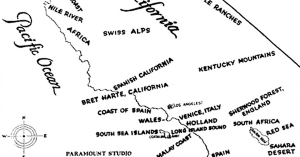 1927 Paramount Studio Map of Potential Filming Locations in ... on map of california map, map of store locations, map of california attractions, map of california restaurant, map of california color, map of california sights, map of california major mountains, map of california coast, map of california weather, map of california geographical features, map of california natural hazards, map of california places of interest, map of california area, map of california landmarks, map of california mission, map of california state, map of california international airports, map of california country, map of california landforms, map of california coastline,