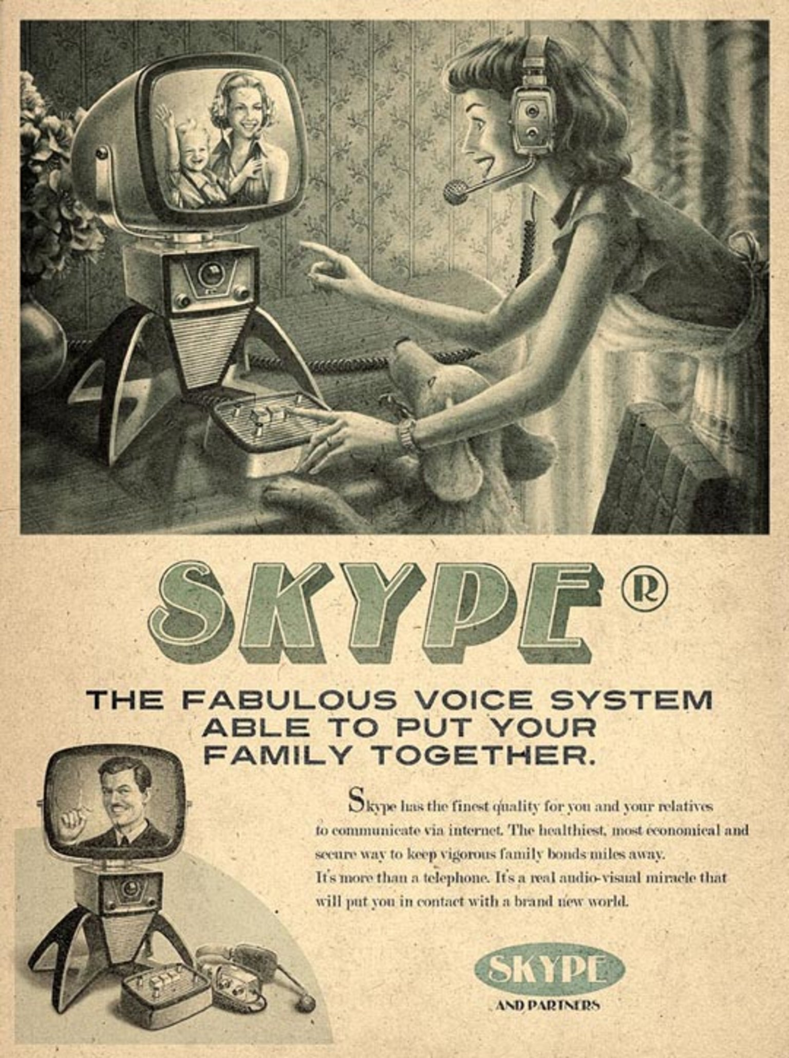 vintage social media ad skype
