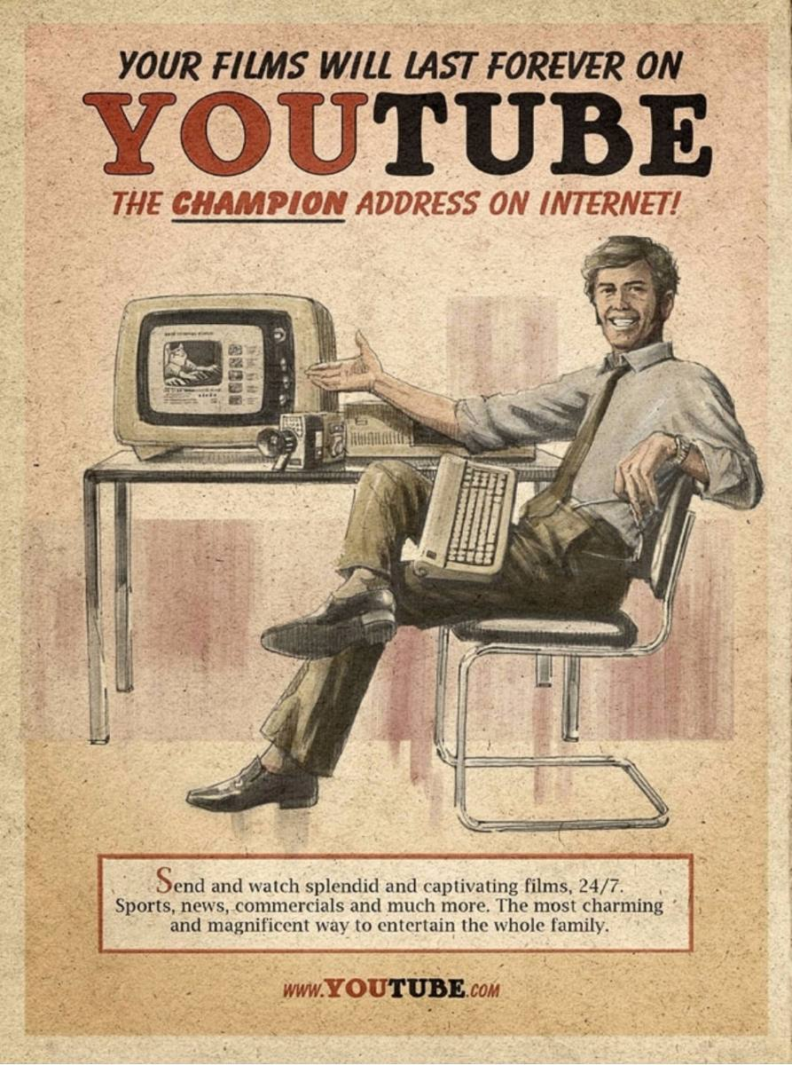 vintage social media ad youtube