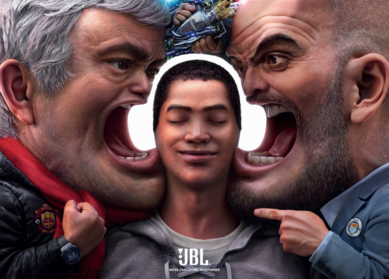 jbl headphone ad mourinho guardiola