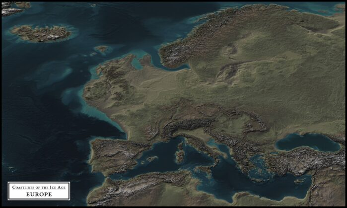 coastlines of the ice age europe