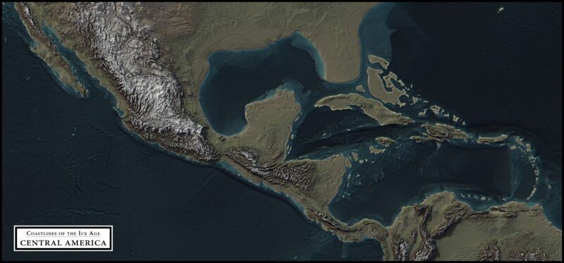 coastlines of the ice age central america