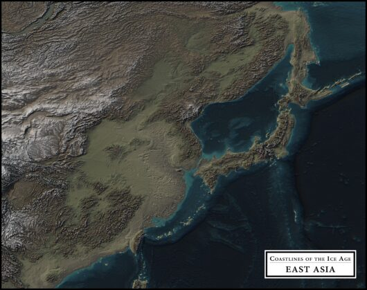 coastlines of the ice age east asia