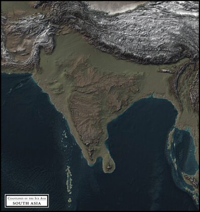 coastlines of the ice age south asia