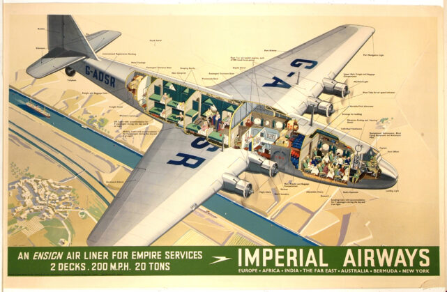 cutaway illustration ensign air liner