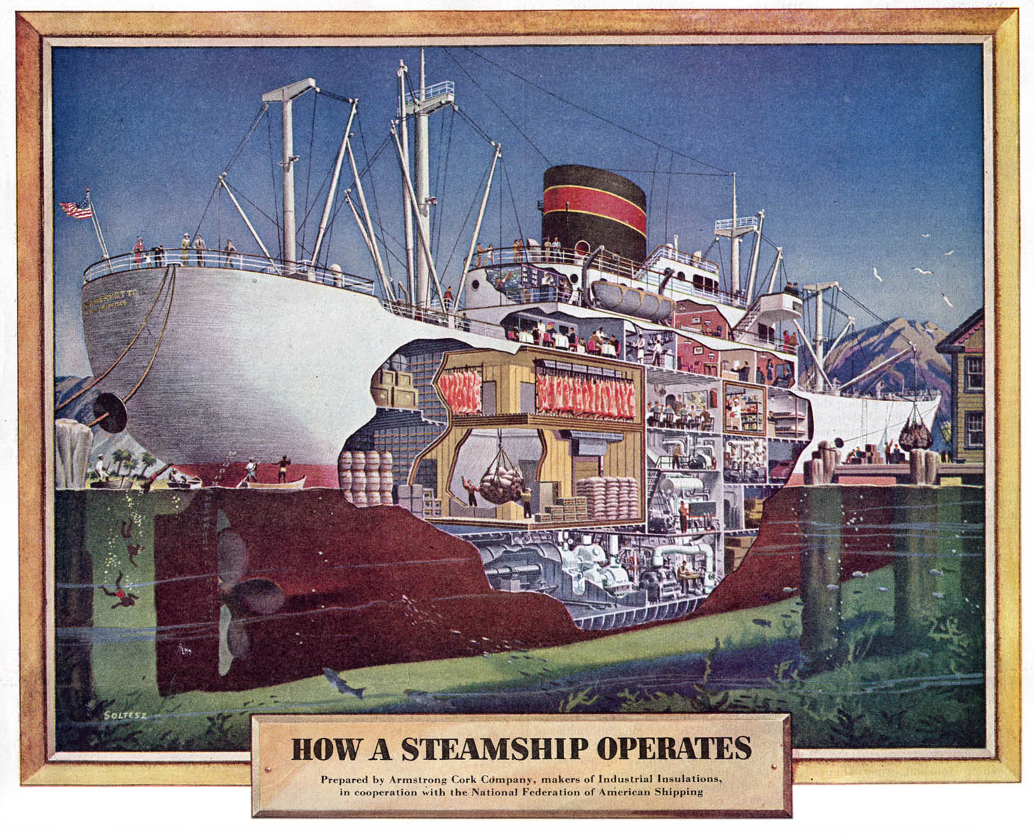 how a steamship operates