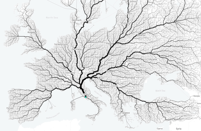 Roman road system