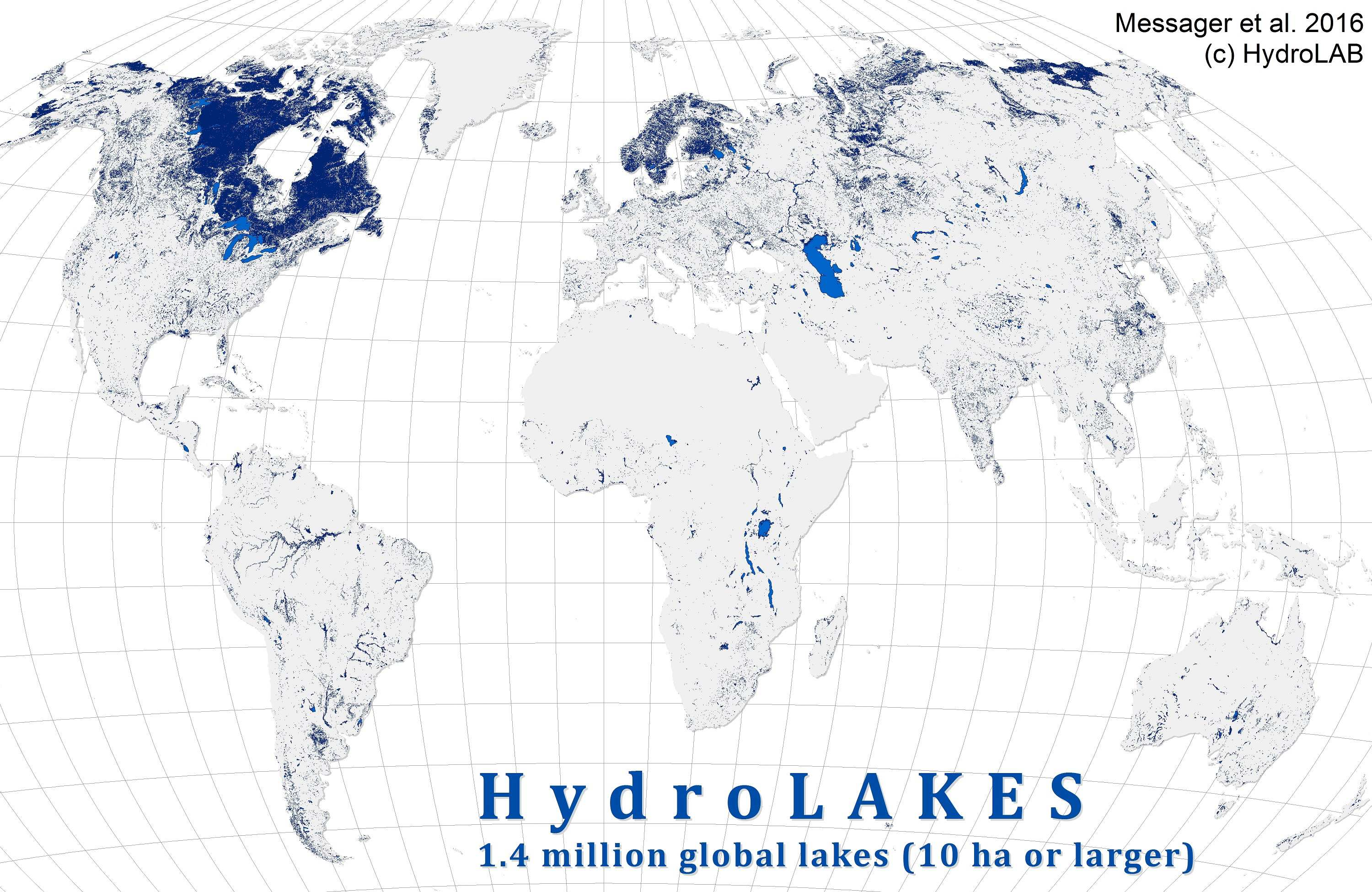 World Map of Lakes