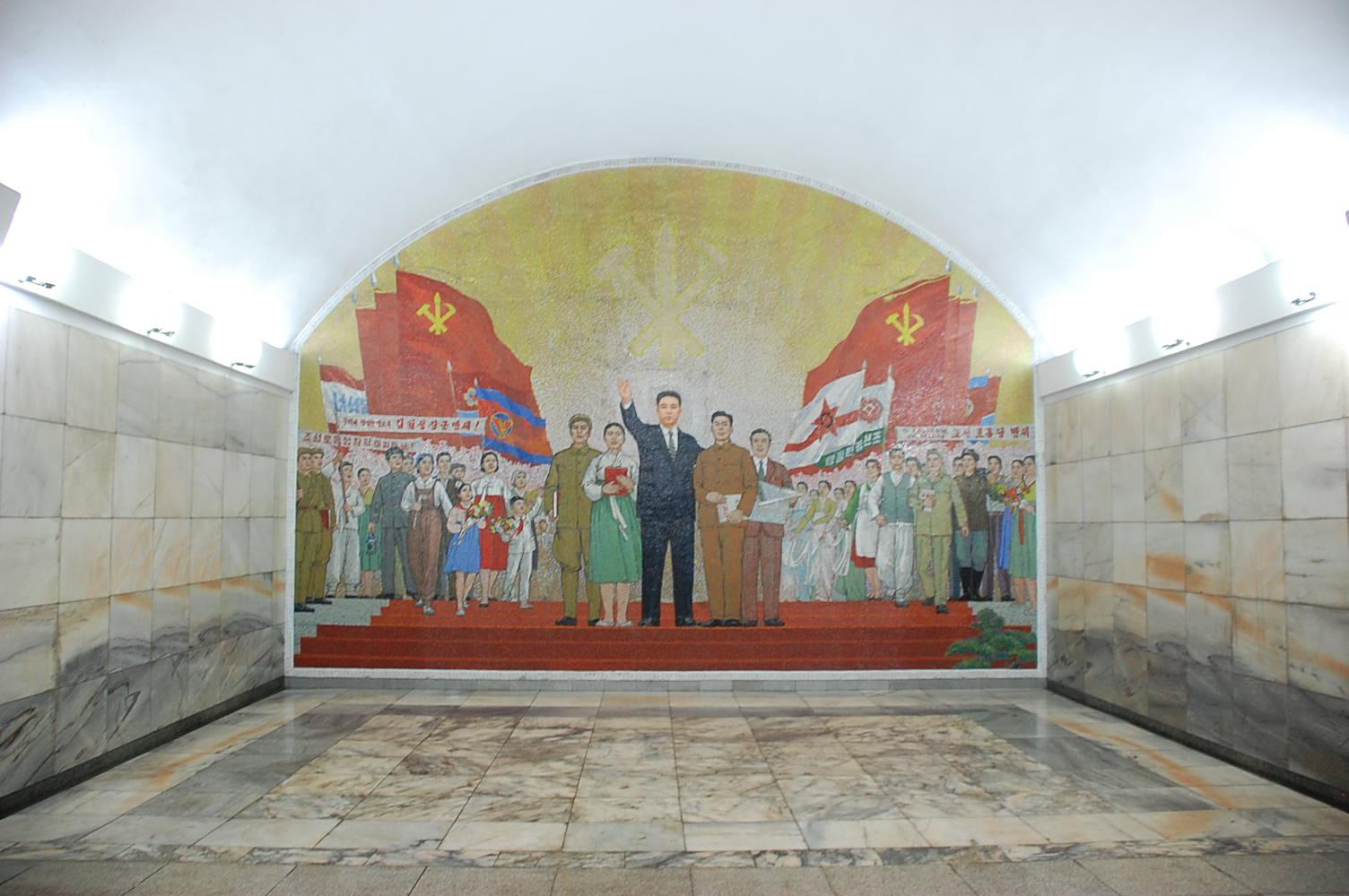 Ponghwa Station. Pyongyang Metro, North Korea