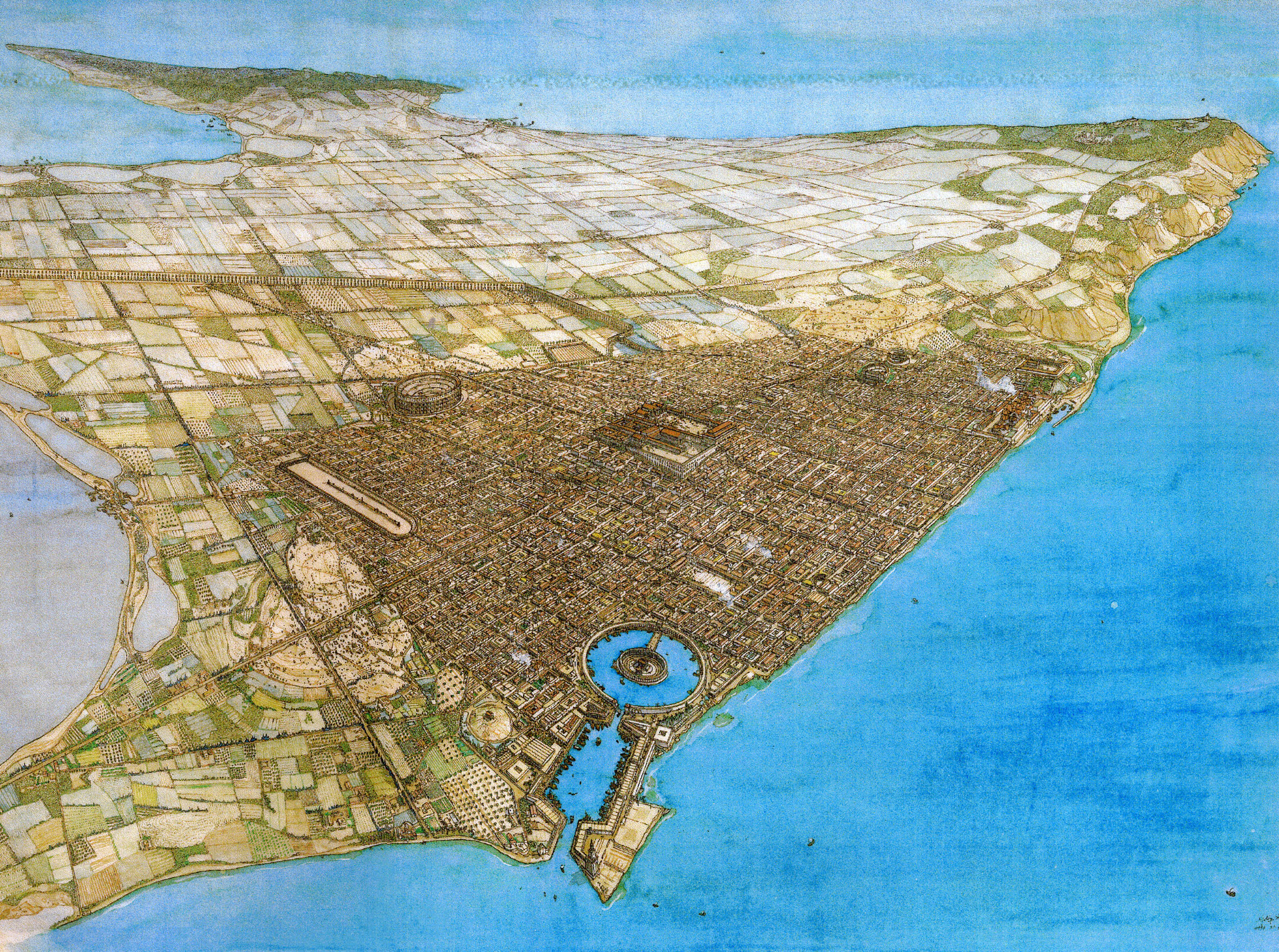 accurate view of ancient roman carthage