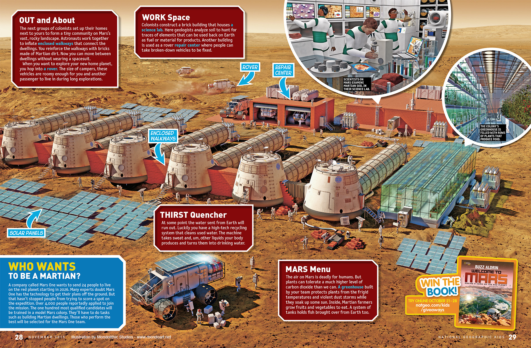Illustrations of Life on Mars