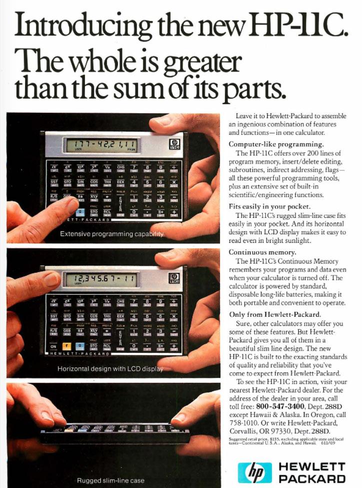 HP-11C Programmable Calculator
