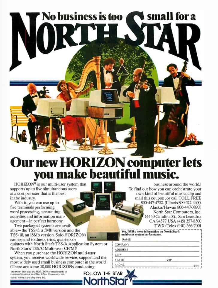 north star computer ad