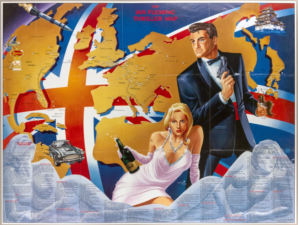 james bond map