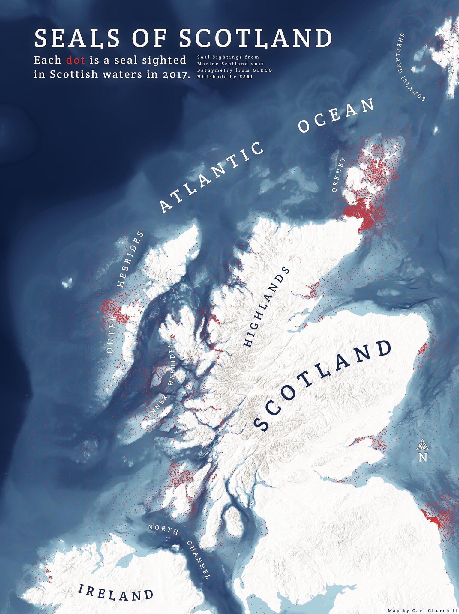 seals of Scotland map