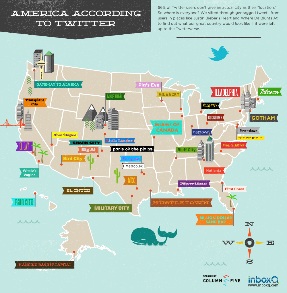 American City Nicknames According to Twitter