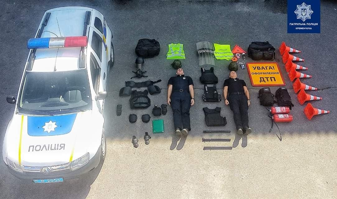 Ukrainian police car contents.