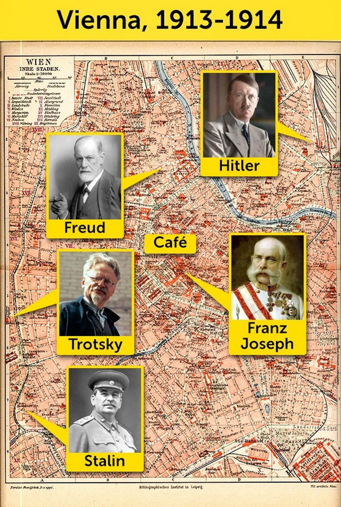 Map of Vienna from 1913-1914 Shows Where Hitler, Stalin, Trotsky and Other Historical Figures All Lived