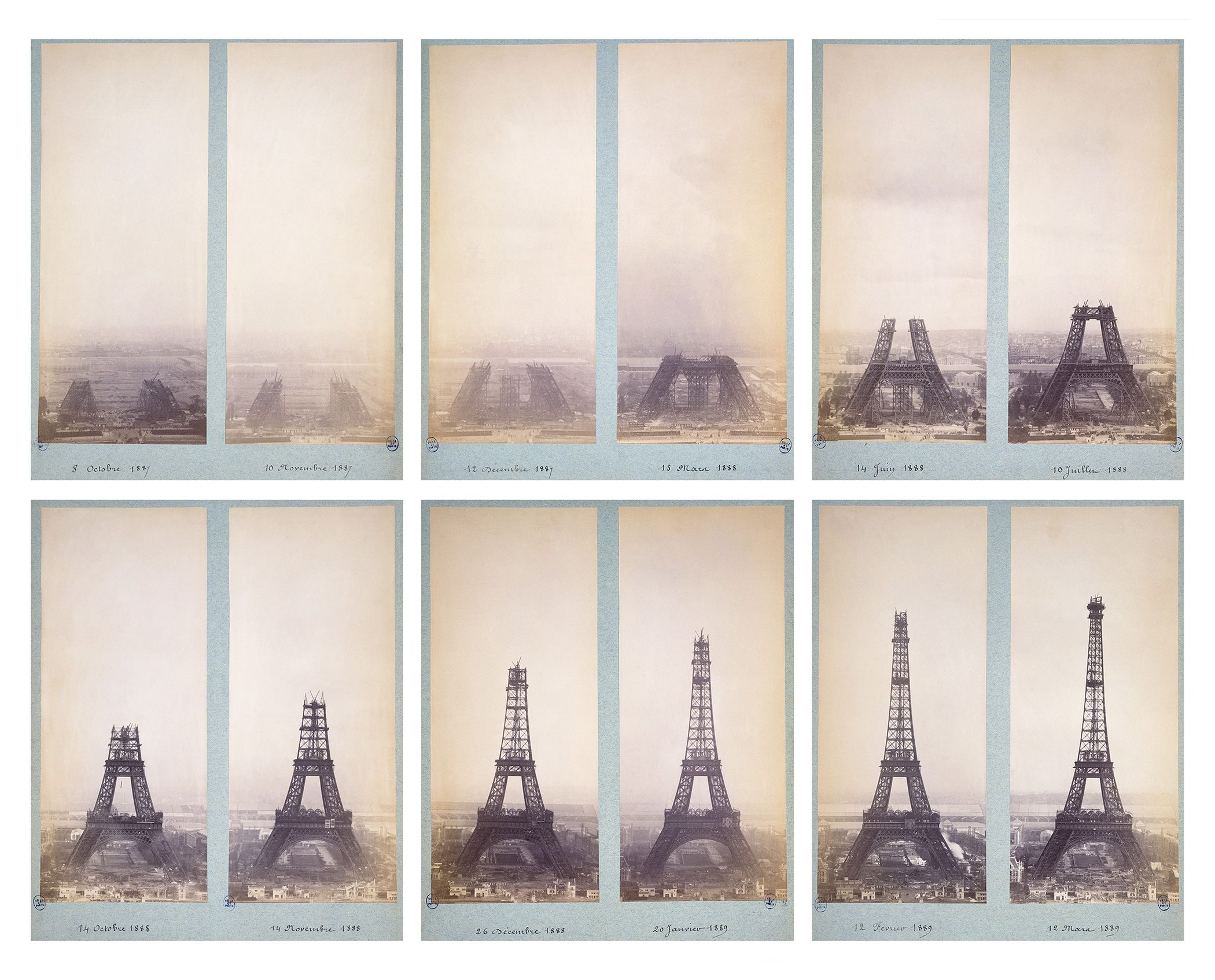 Eiffel Tower Construction Step By Step Photos